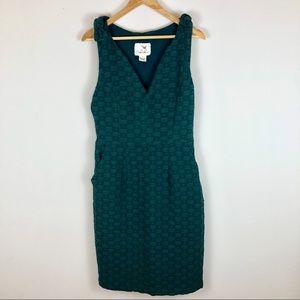 Anthro Tabitha Sleeveless Emerald Green Dress